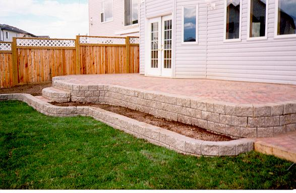 Deluxe Patio with Steps & Flower Beds