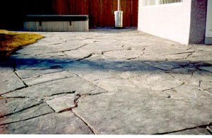 Unique Rundle Stone Slab Patio - no two Rundle Stone slabs are the same