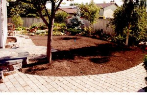 Brick Pavers Curved Sidewalk looks great and saves the wear and tear of your yard