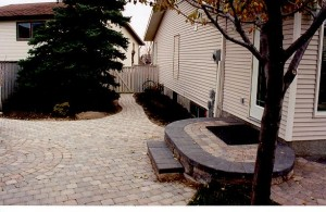 Custom Brick Outdoor Steps & Brick Pavers Backyard Patio